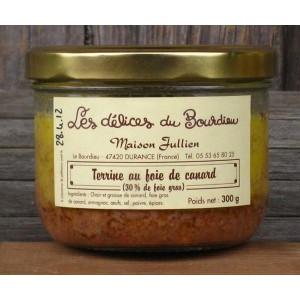 Terrine au foie gras de canard 300 gr